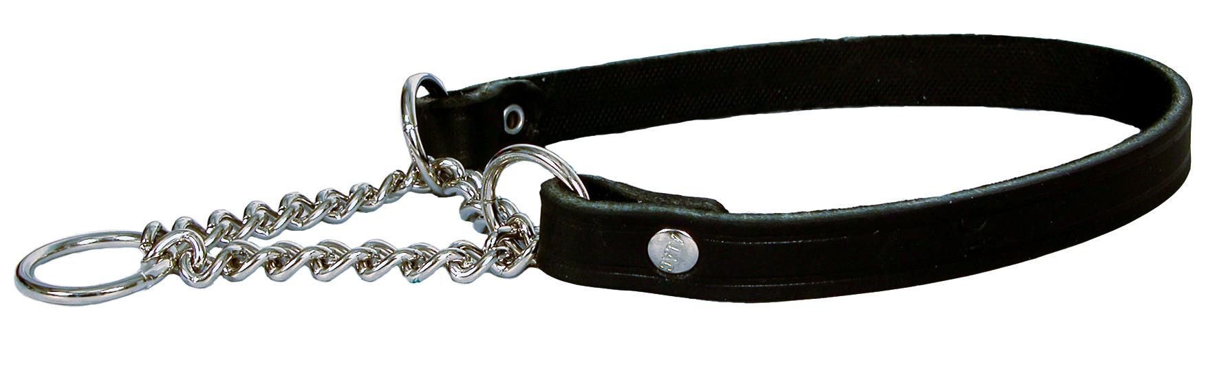 Alac Läderhalsband halvstryp XS 30cm