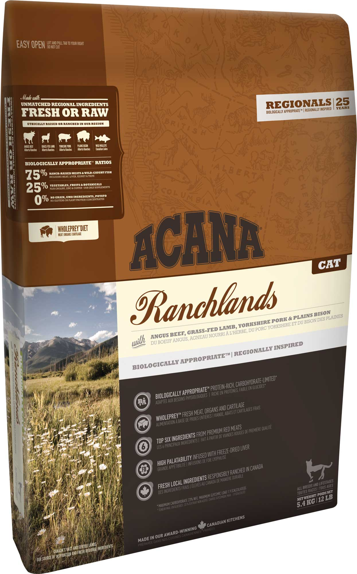 Bilde av Acana Cat Ranchlands 5,4 Kg