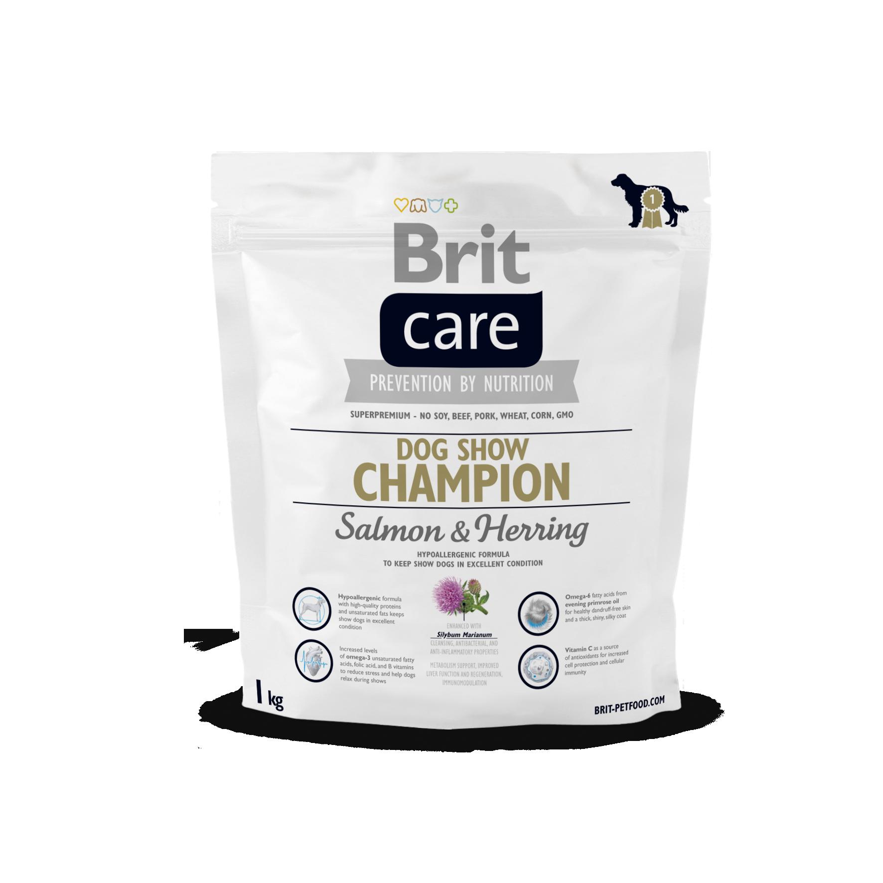 Brit DogShow Champ. SalmonoHerring 1Kg