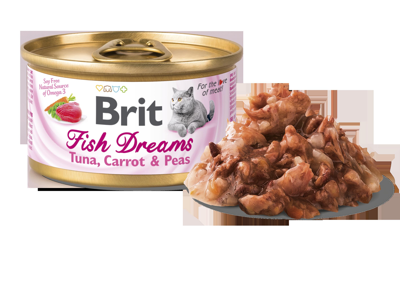 Brit Fish Dreams Tuna, Carrot o Pea 80g