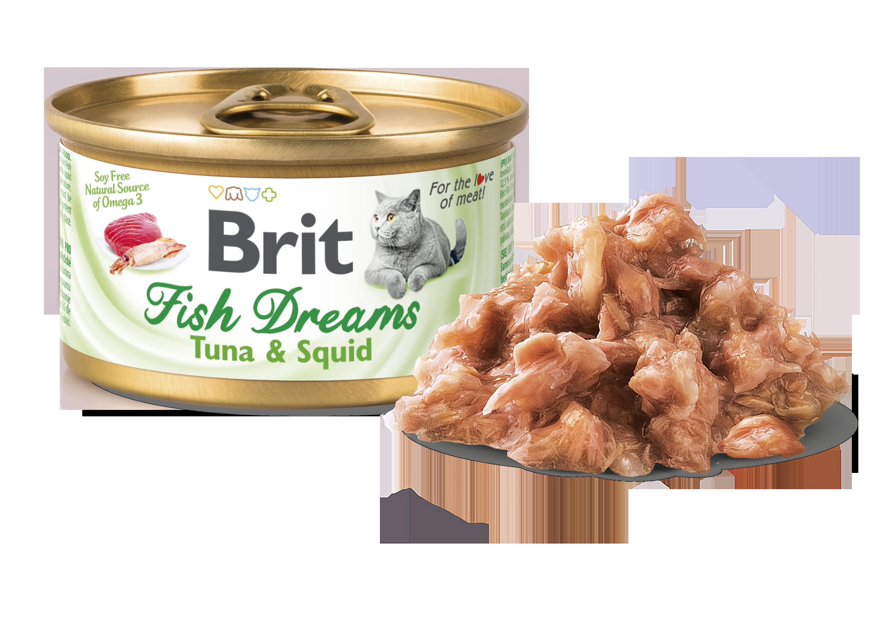 Brit Fish Dreams Tuna o Squid 80g