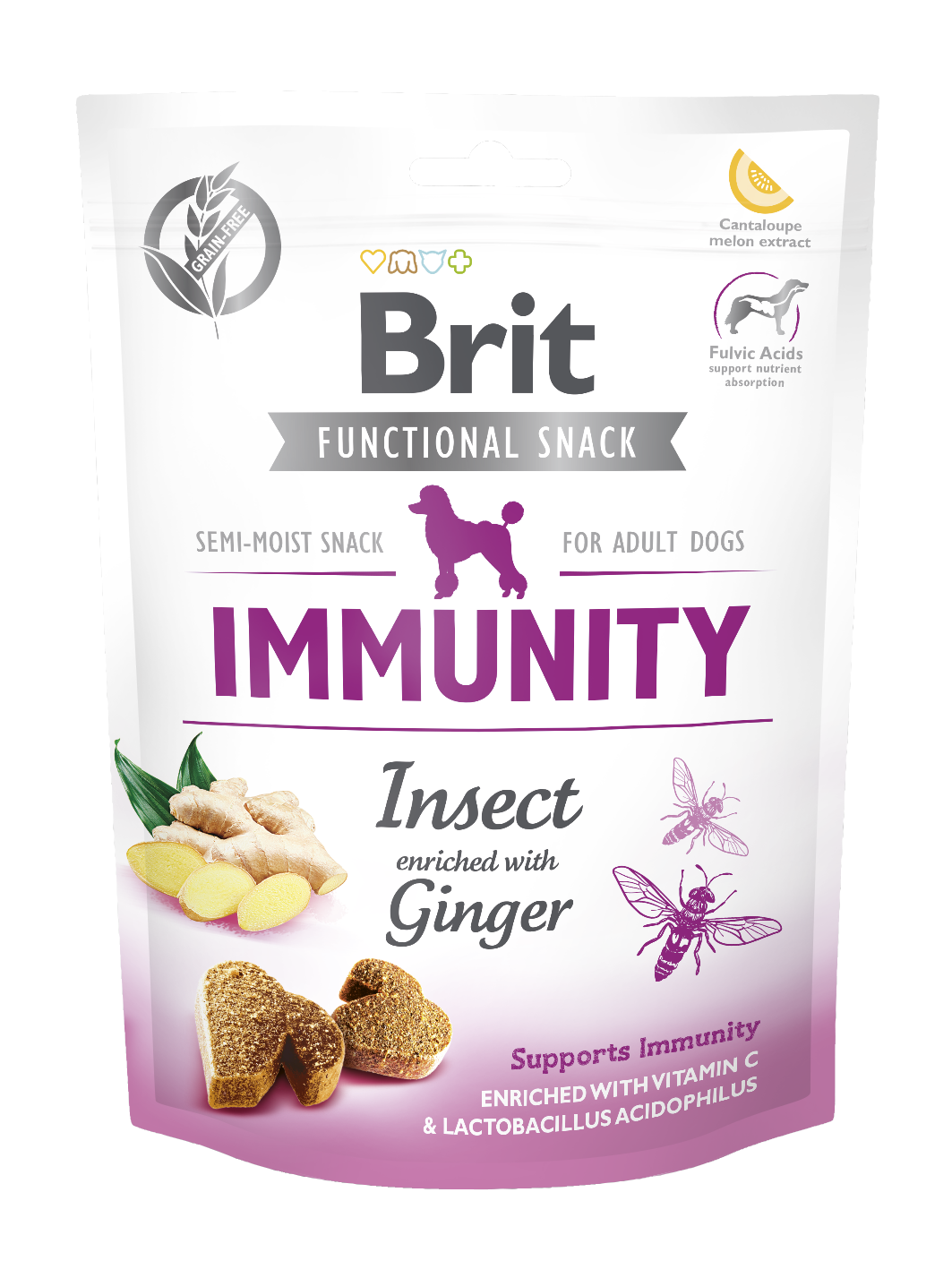 Brit Snack Func. Immunity Insect 150g