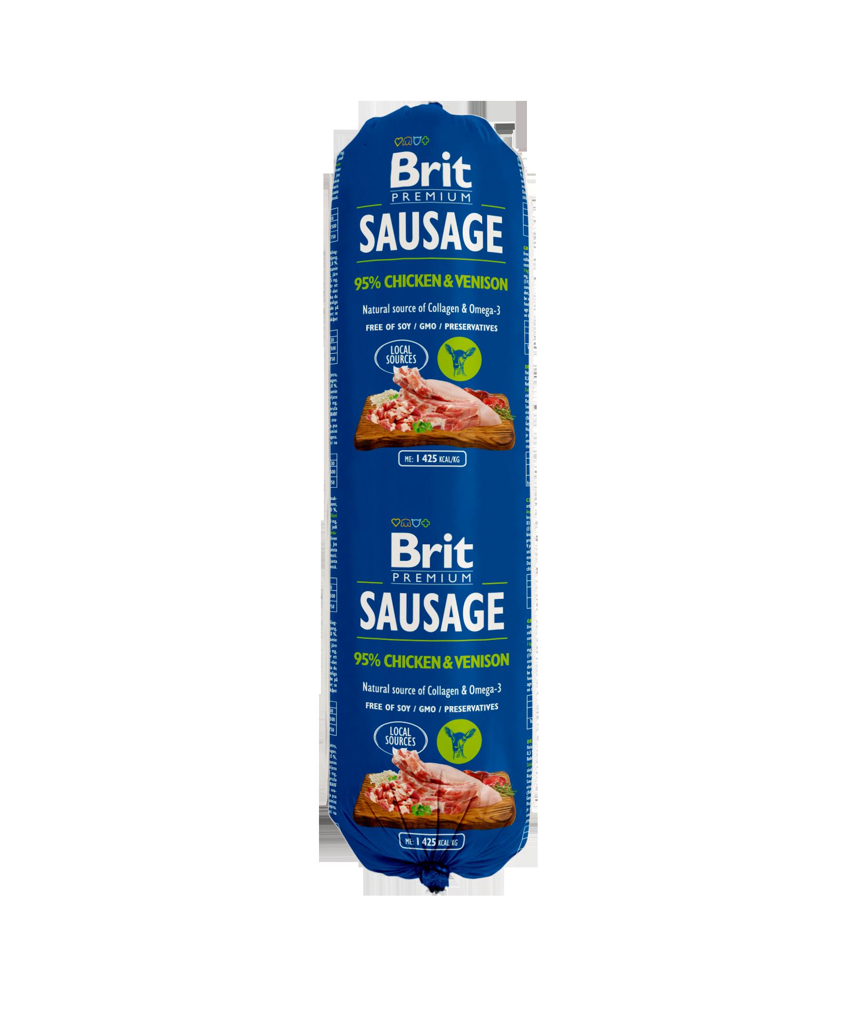 Brit Premium Köttkorv Chicken o Venison 800g
