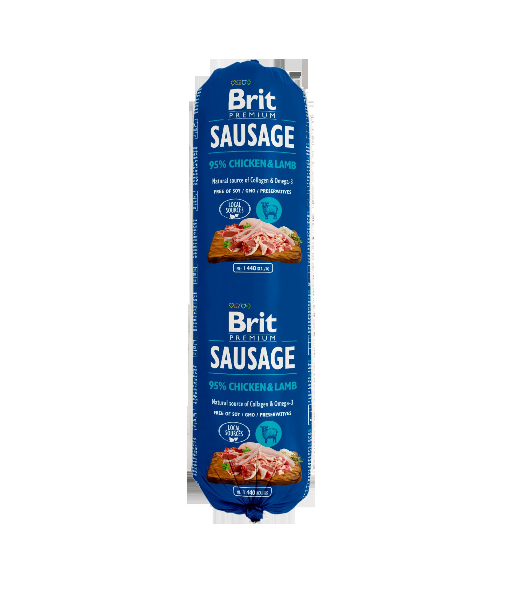 Brit Premium Köttkorv Chicken o Lamb 800g