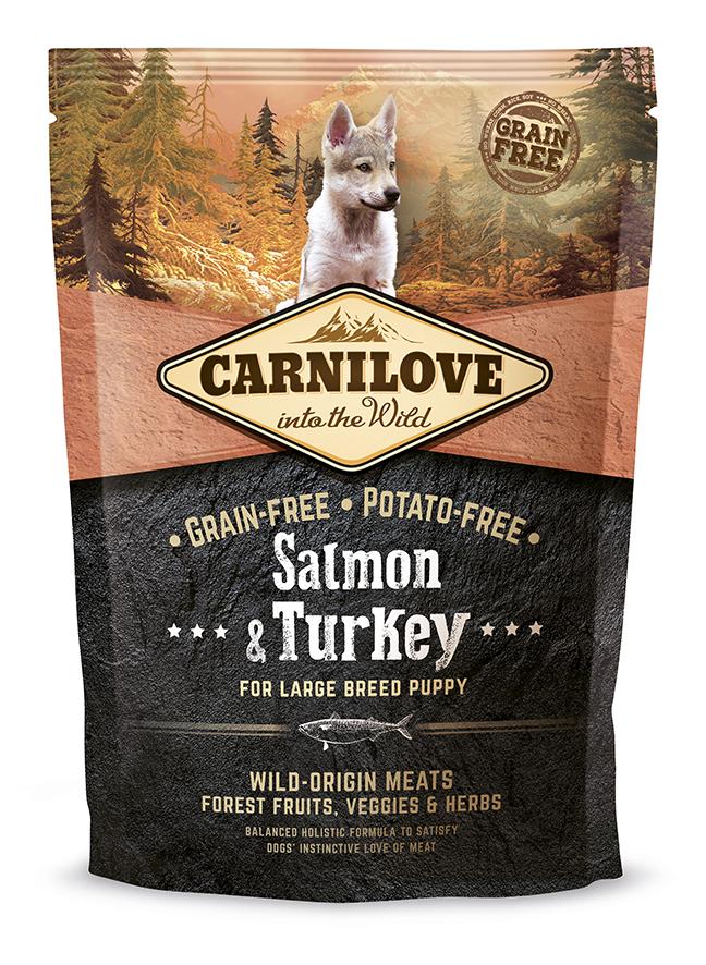 Carnilove Salmon o Turkey Puppy Large 1,5Kg