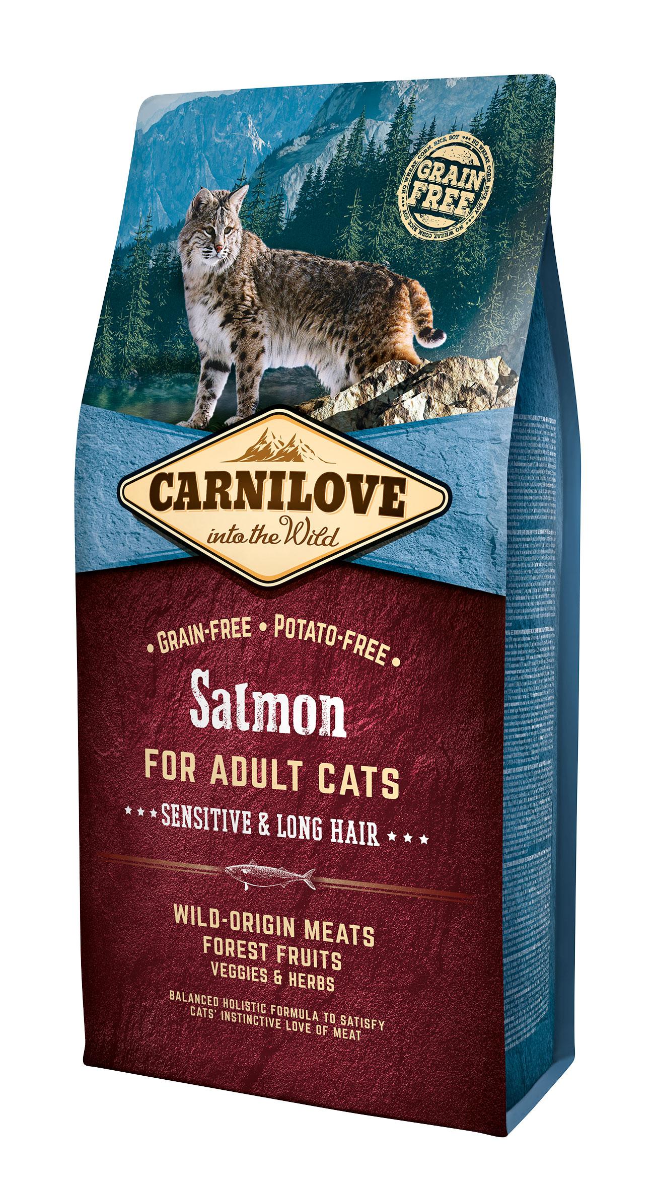 Carnilove Salmon Sensitive o Long Hair 6kg