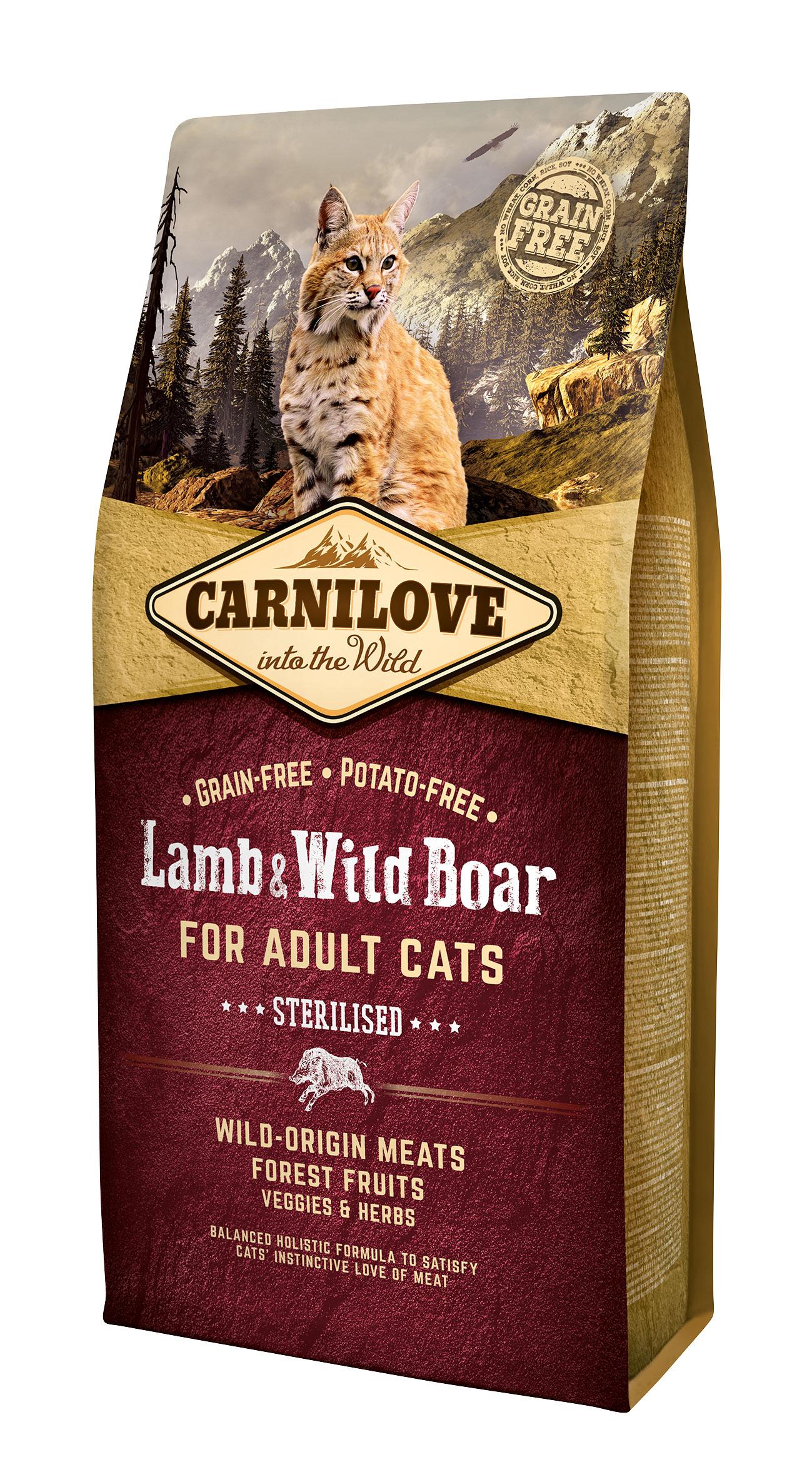 Carnilove Lamb o Wild Boar Sterilised 6kg