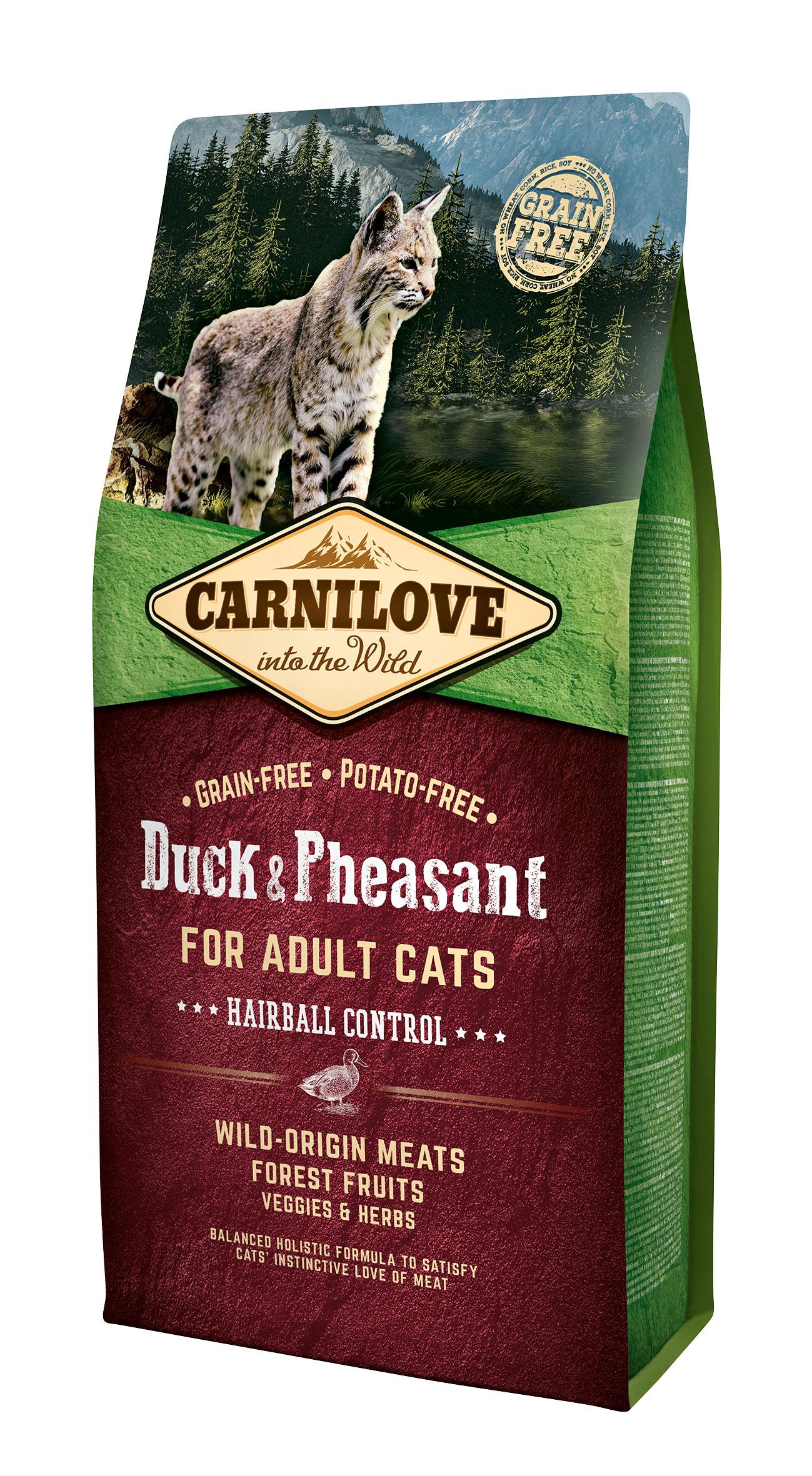 Carnilove Duck o Pheasant Hairball 6kg