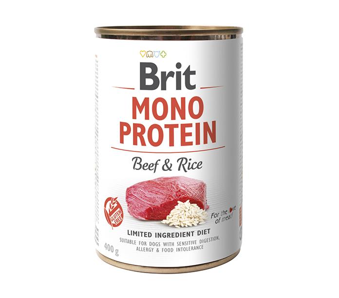 Brit Mono Protein Beef o Brown Rice 400g
