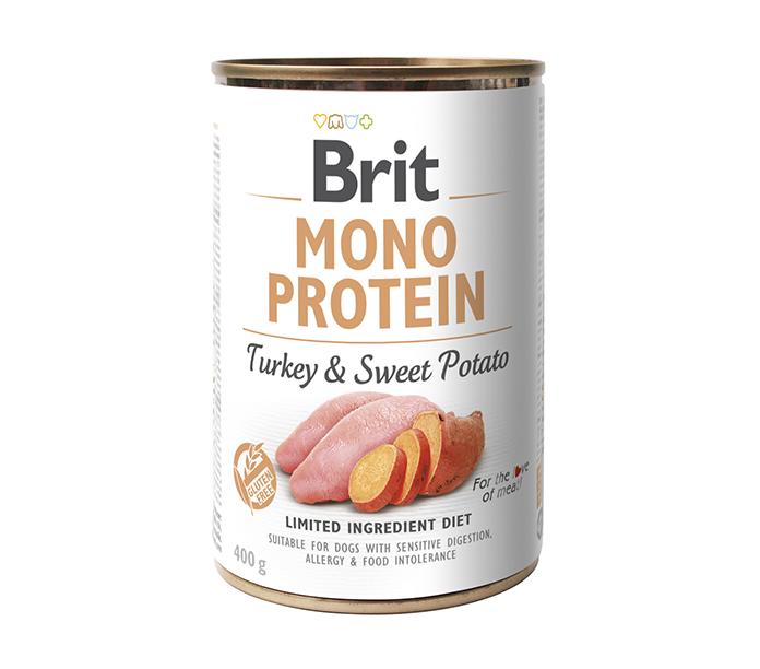 Brit Mono Protein TurkeyoSweetpotat 400g