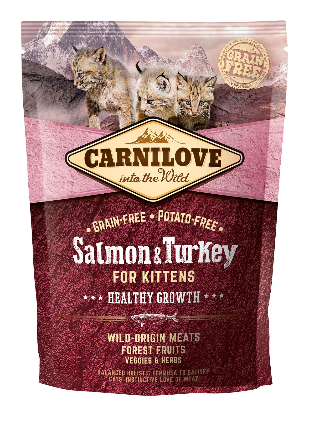 Carnilove Salmon o Turkey Kitten 400g