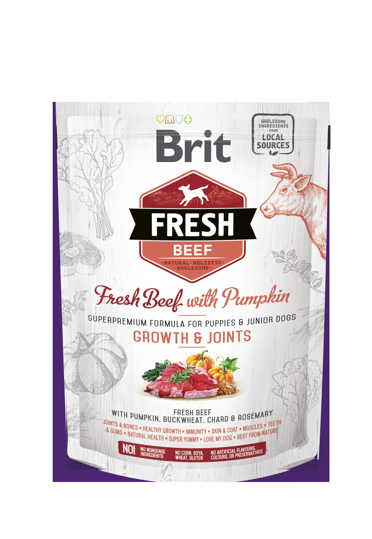 Brit Fresh Beef o Pumpkin Puppy Large 2,5Kg