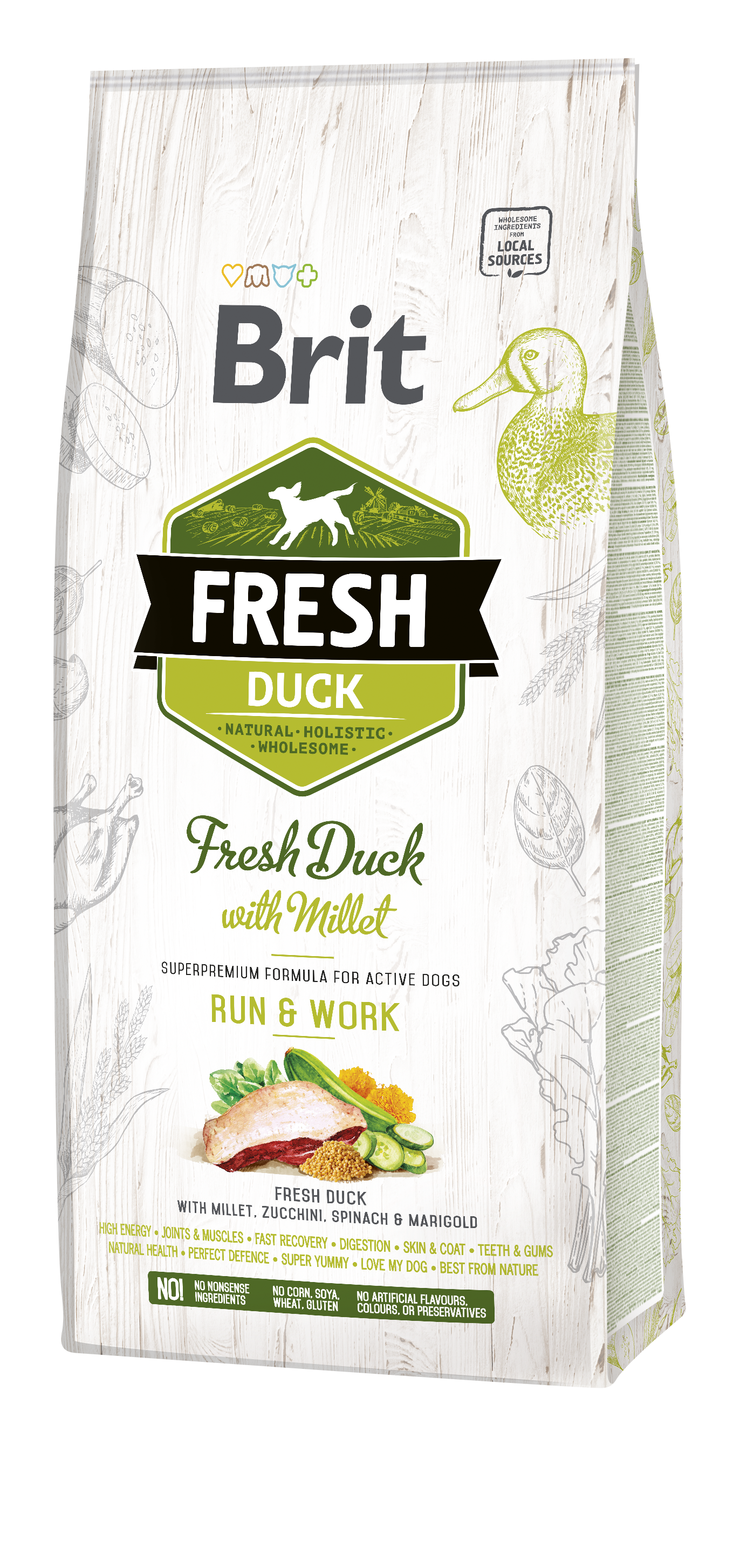 Brit Fresh DuckoMillet Active Run o Work 12Kg