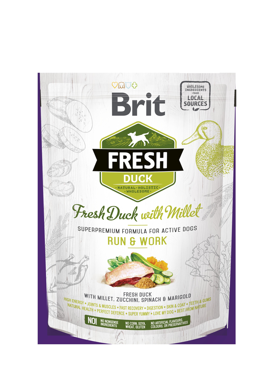 Brit Fresh DuckoMillet Active Run o Work 2,5Kg