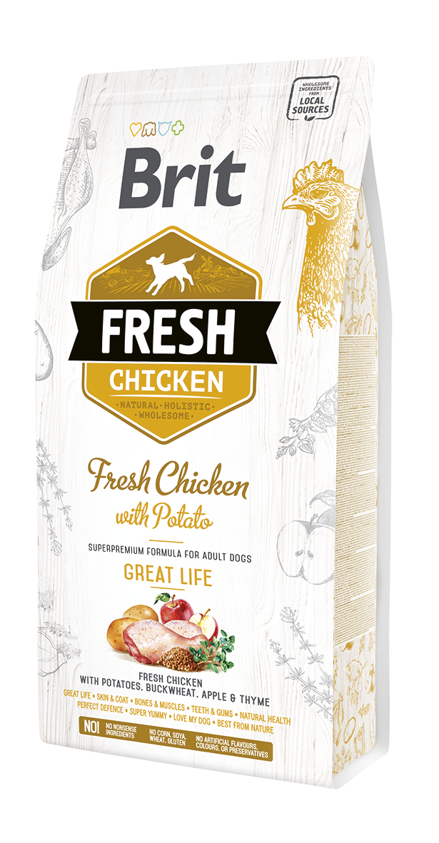 Brit Fresh ChickenoPotato Adult GreatLife 12Kg