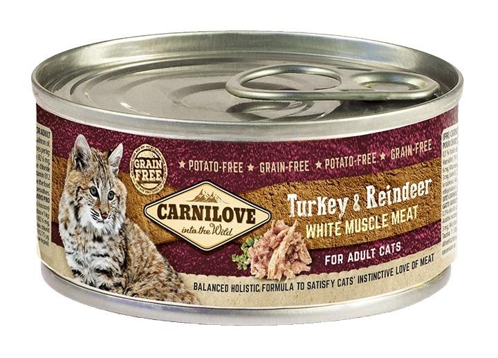 Carnilove Meat Turkey o Reindeer 100g