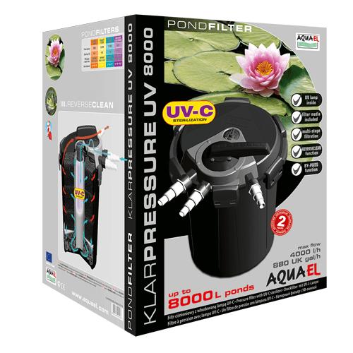 Aquael Dammfilter KlarPressure UVC 4000l/h
