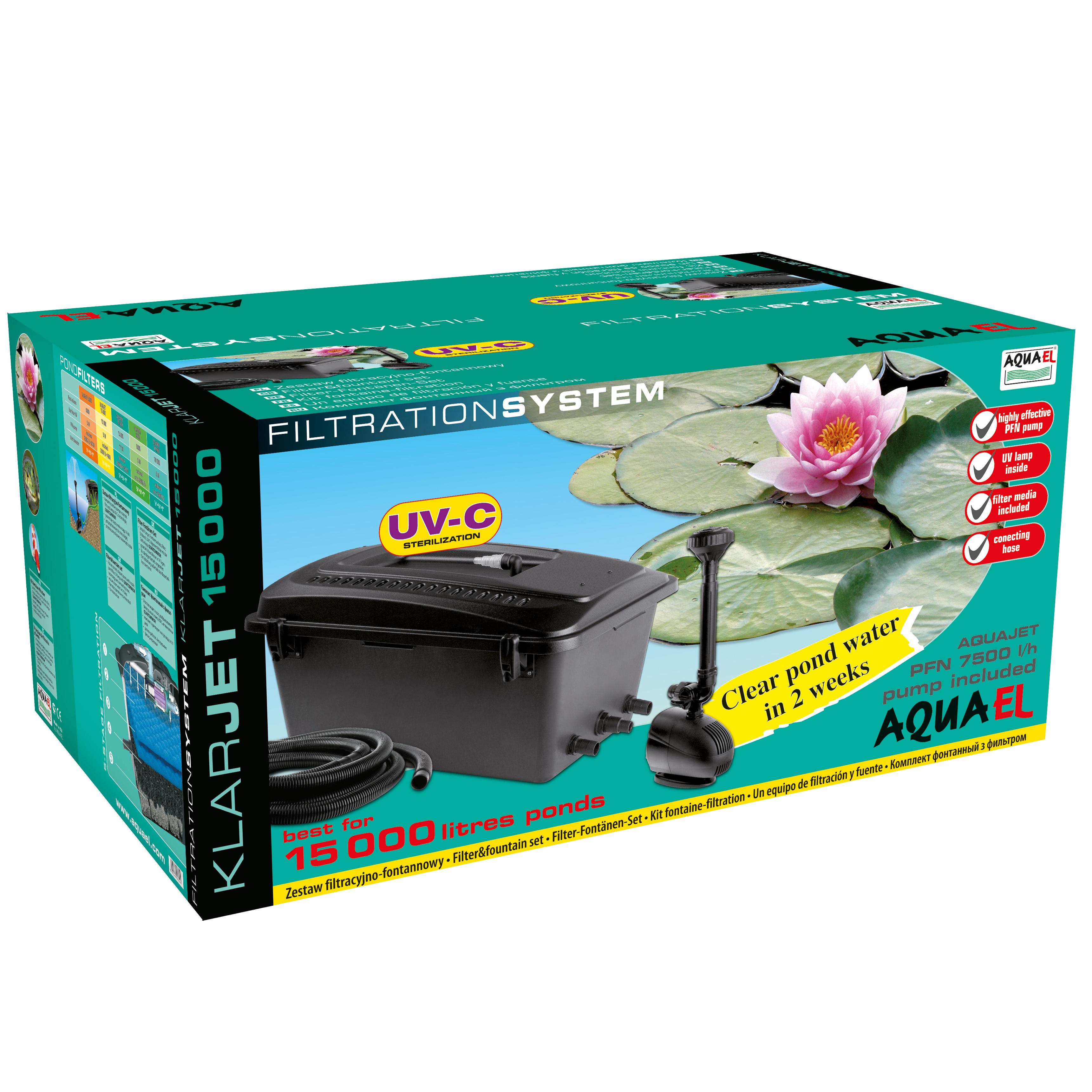 Aquael Dammfilter Klarjet 11W 7500l/h
