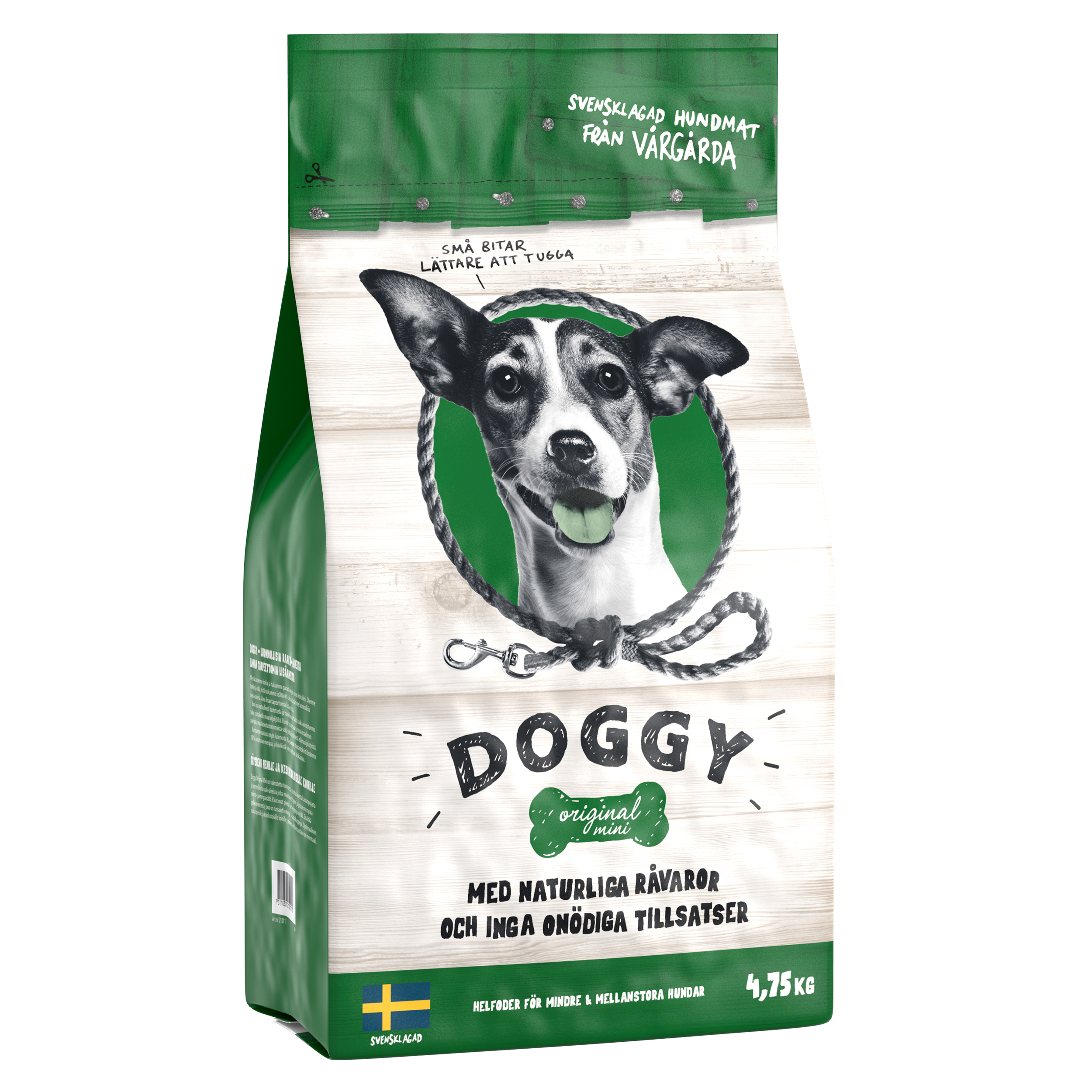 Doggy Adult Original Mini m Kyckling 4,75kg