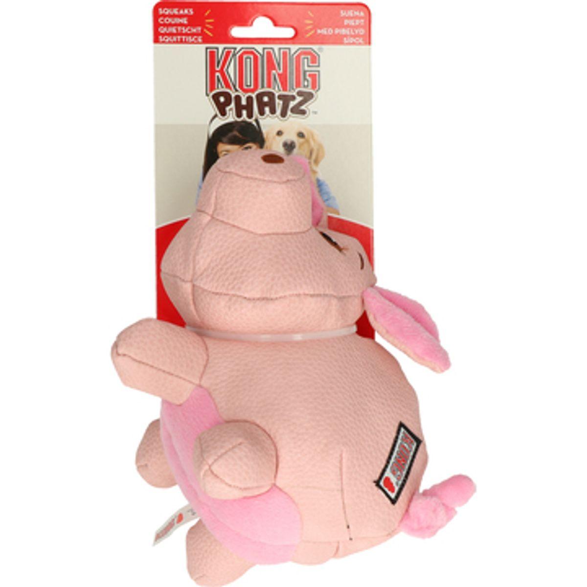 KONG Leksak Phatz Pig S 12cm