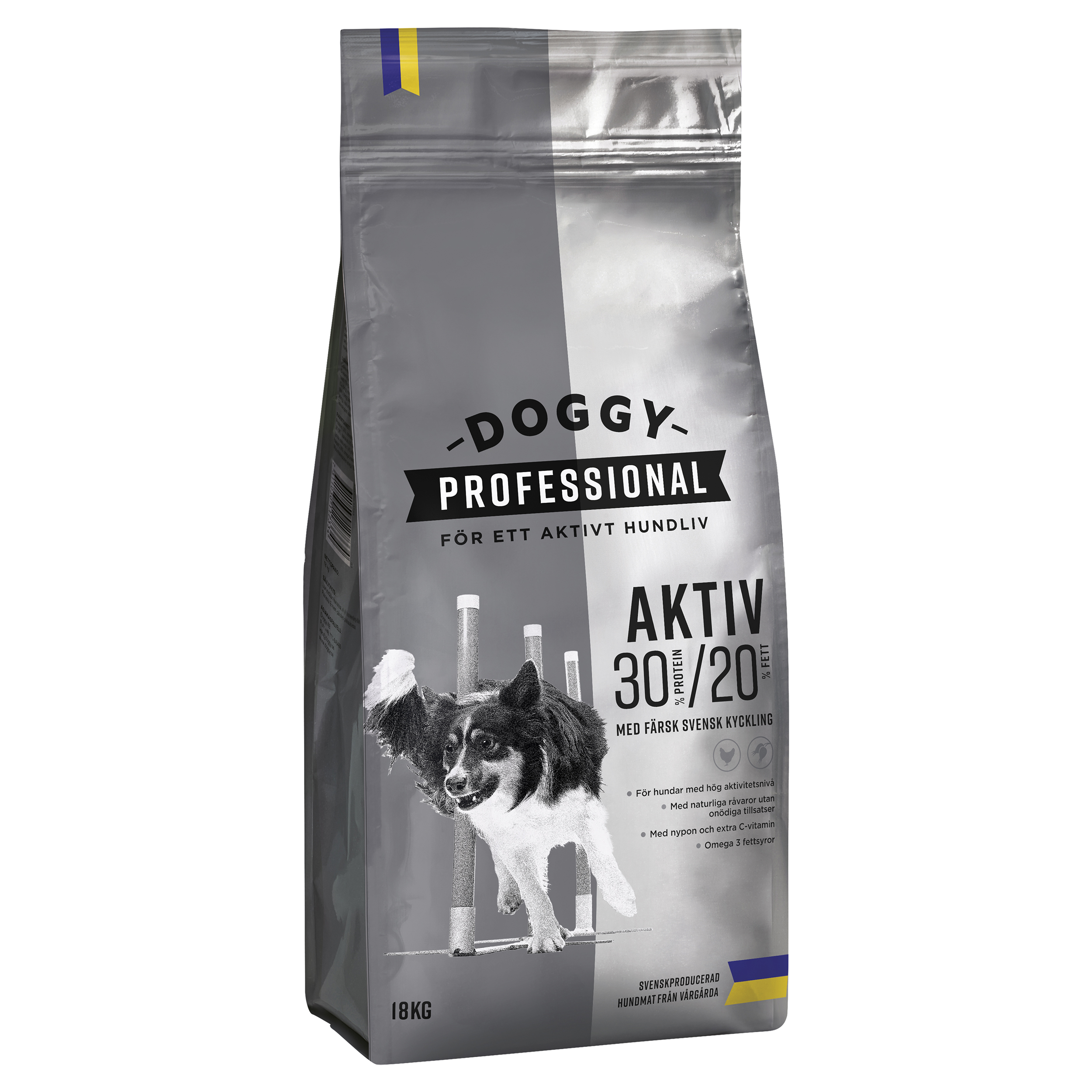 Doggy Adult Aktiv m Kyckling 18kg