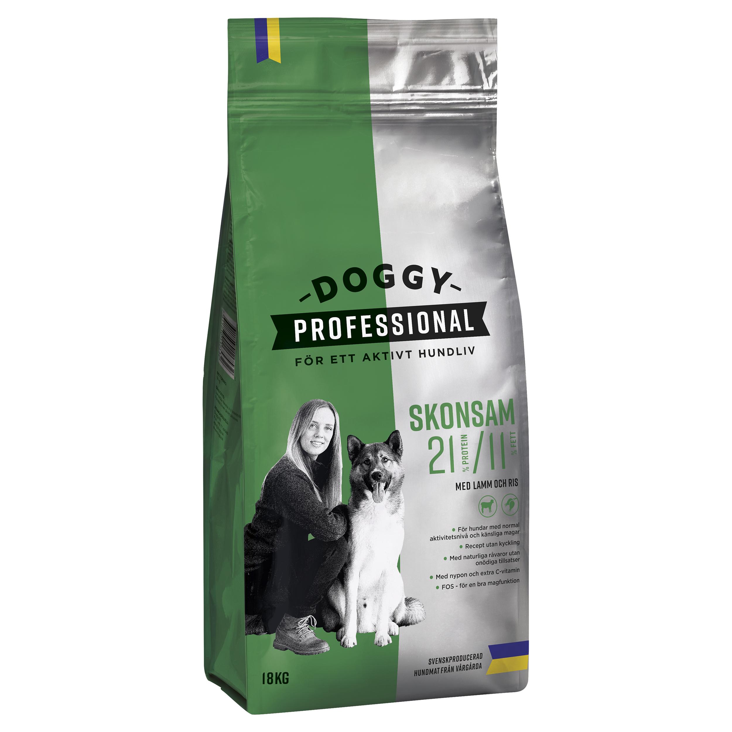 Doggy Adult Skonsam m Lamm o Ris 18kg