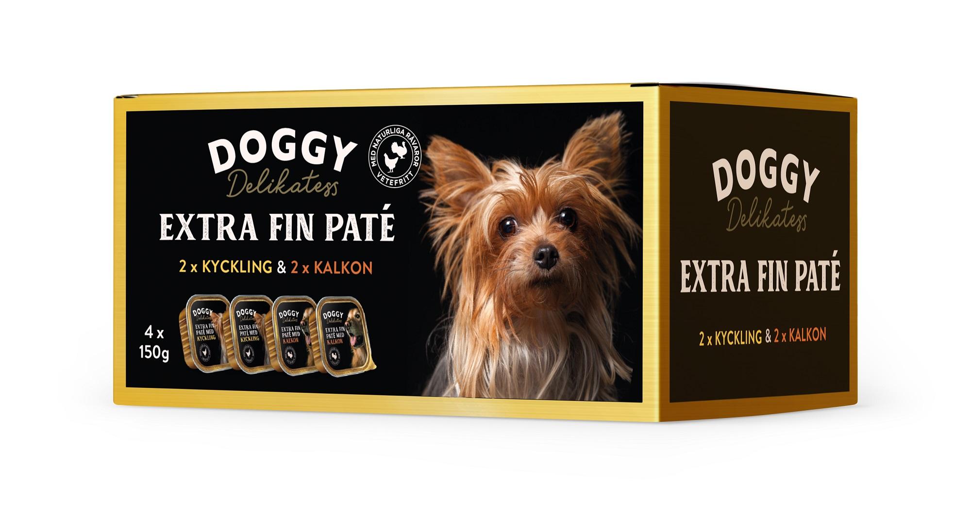 Doggy Deli paté Multibox Kyck Kalkon 600g