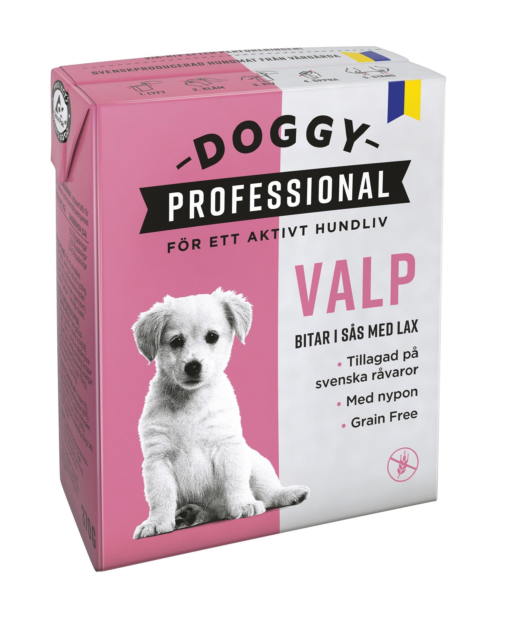 Doggy Våtfoder Valp m lax och nypon 370g