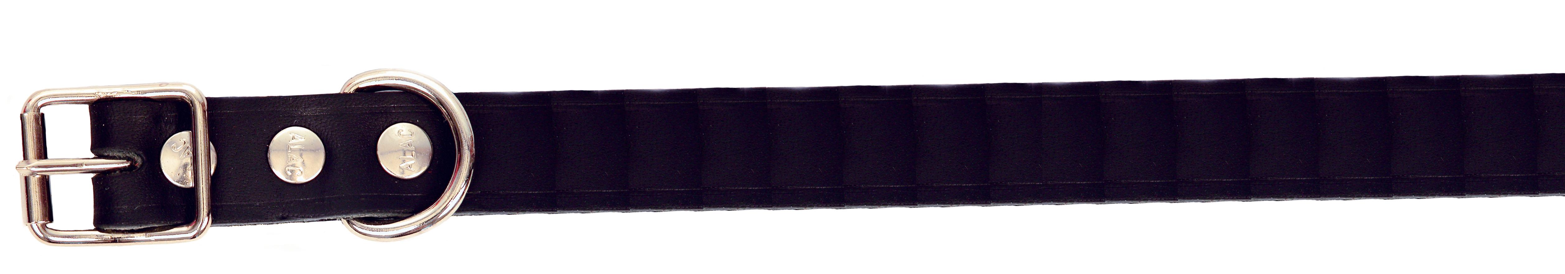 Alac Läderhalsband ställbart M 50cm