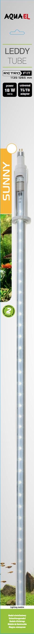 Aquael Lysrör LED Universal Sunny 18W-K 1047-1180mm