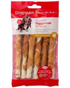 Tuggpinnar med kyckling för hundar från Dogman