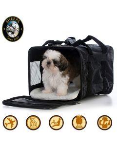 Sherpa Original Deluxe reisebur til hund og katt som er godkjent i flykabinen
