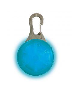 Spot Lit LED lampe blå til å henge på hundehalsbåndet, selen eller ryggsekken, jakken