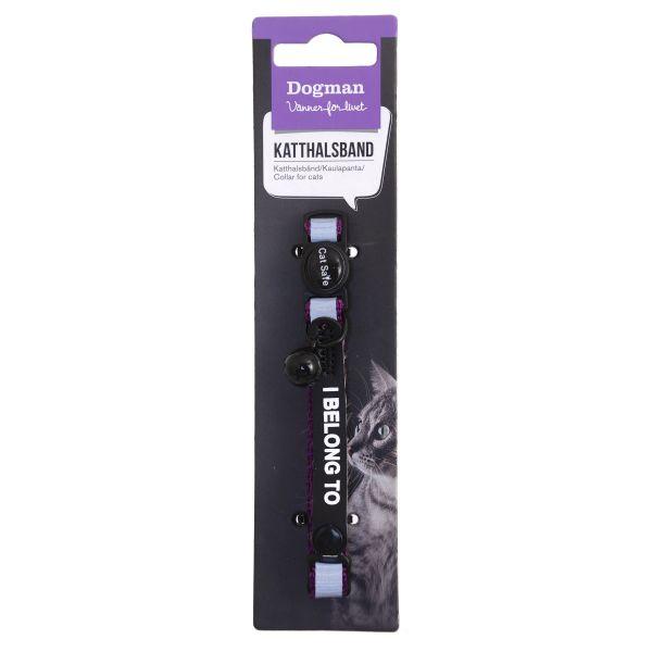 Dogman Halsband Stripe Lila M