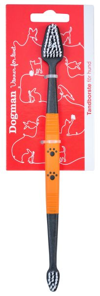 Dogman Tannbørste dobbel Svart 22,5cm