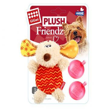 GiGwi Leke PlushFriendz Dog Flerfarget XS 13cm