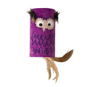 GiGwi Leksak MelodyChaser Owl Lila 22cm