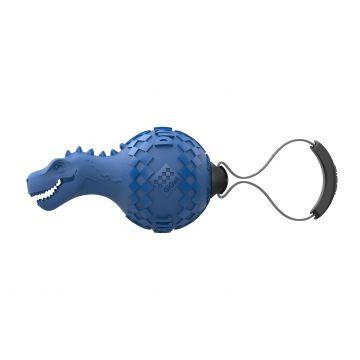GiGwi Leke PushToMute Dinosaur Blå L 15cm