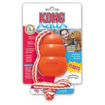 KONG Leksak Aqua med rep flytande Orange M 8,5cm