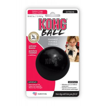 KONG Leksak Ball Extreme Svart M/L 7,5cm