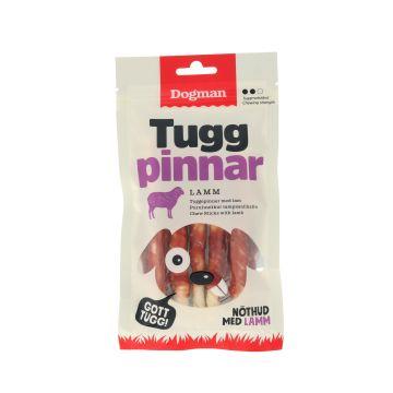 Dogman Tyggepinner med lam 5p Hvit S 12,5cm