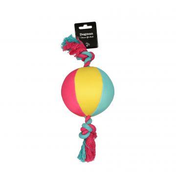 Dogman Leke Ball med tau flytende Flerfärgad S 17,5cm