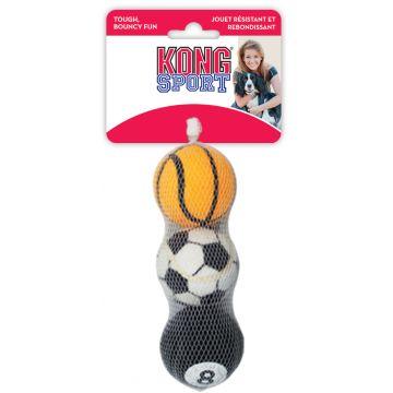 KONG Leke Sport Balls 3p Flerfärgad M 6cm