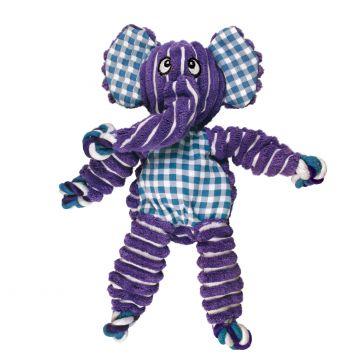 KONG Leksak Knots Elephant Lila M/L 36cm