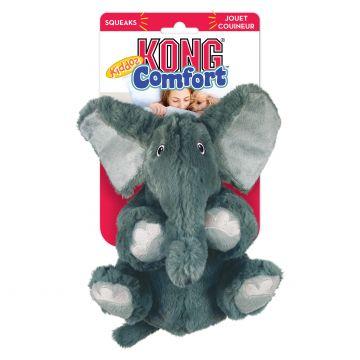KONG Leksak Comfort Kiddos Elephant Grå S 18cm