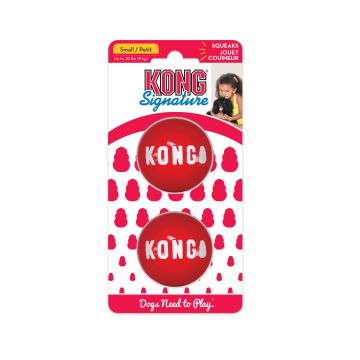 KONG Leke Signature Balls 2p Rød S 5cm