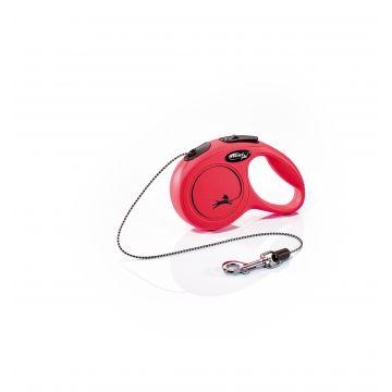 Flexi New Classic Cord Röd S 8m