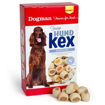 Dogman Duokjeks tre ulike smaker M 500g