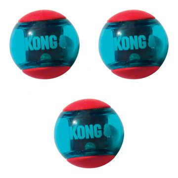 KONG Leksak Squeezz Action Ball 3p Flerfärgad S 5cm