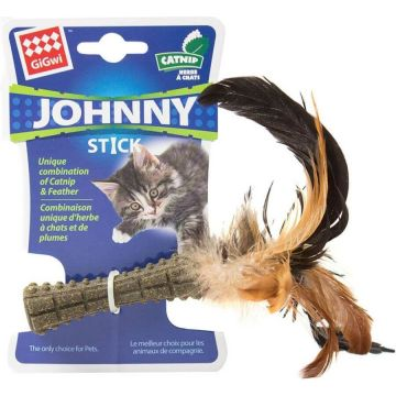 GiGwi Leksak JohnnyStick Brun 19cm